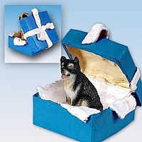 Alaskan Malamute Gift Box Blue Ornament