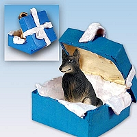 Belgian Tervuren Gift Box Blue Ornament