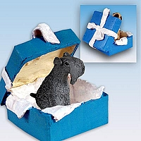 Kerry Blue Terrier Gift Box Blue Ornament