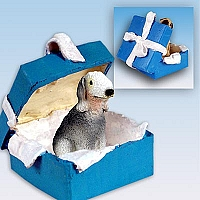 Bedlington Terrier w/Docked Tail Gift Box Ornament
