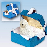 Komondor Gift Box Blue Ornament