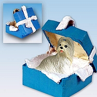 Shih Tzu Mixed Gift Box Blue Ornament