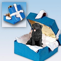 Newfoundland Gift Box Blue Ornament