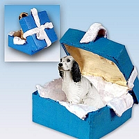 English Setter Belton Blue Gift Box Blue Ornament