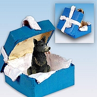 Australian Cattle BlueDog Gift Box Blue Ornament
