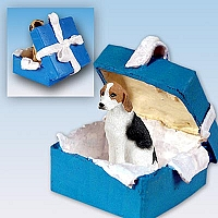 American Fox Hound Gift Box Blue Ornament