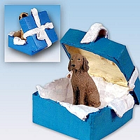 Vizsla Gift Box Blue Ornament