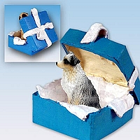Australian Shepherd Blue w/Docked Tail Gift Box Blue Ornament