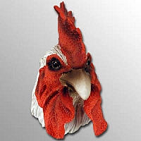 White Rooster Magnet