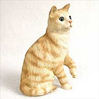 Red Shorthaired Tabby Cat Standard Figurine
