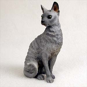 Blue Cornish Rex Standard Figurine