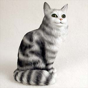 Silver Tabby Maine Coon Cat Standard Figurine