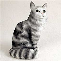 Silver Tabby Maine Coon Cat Standard Figurine