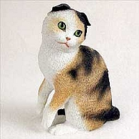Tortoise & White Scottish Fold Standard Figurine