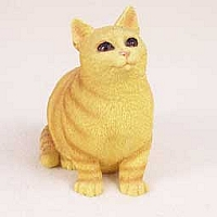Red Tabby Cat Pregnant Again Figurine