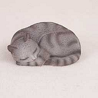Silver Shorthaired Tabby Cat Pleasant Dreams