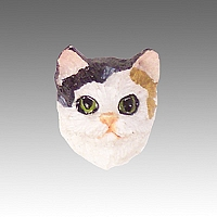 Calico Shorthaired Tiny One head CH05