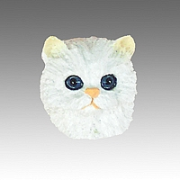 White Persian Tiny One head CH08