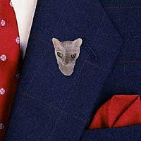 Blue Cornish Rex Pin