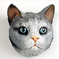 Silver Shorthaired Tabby Cat Magnet