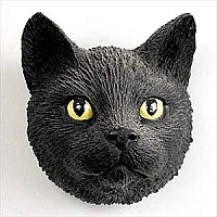 Black Shorthaired Tabby Cat Magnet