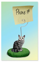 Silver Tabby Maine Coon Cat Memo Holder