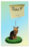 Brown Tabby Maine Coon Cat Memo Holder