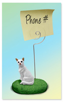 White Oriental Shorthaired Memo Holder