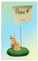 Red Tabby Manx Memo Holder