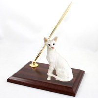 White Oriental Shorthaired Pen Set