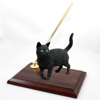 Black Shorthaired Tabby Cat Pen Set