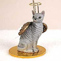 Blue Cornish Rex Pet Angel Ornament