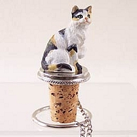 Calico Shorthaired Bottle Stopper