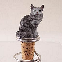 Silver Tabby Maine Coon Cat Bottle Stopper