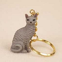 Blue Cornish Rex Key Chain