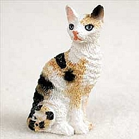 Tortoise & White Cornish Rex Tiny One Figurine