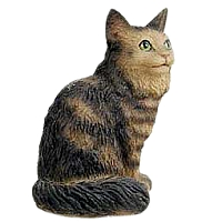 Brown Tabby Maine Coon Cat Tiny One Figurine