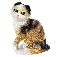 Tortoise & White Scottish Fold Tiny One Figurine