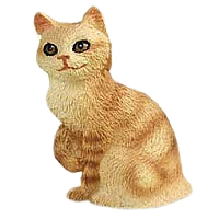 Red Tabby Manx Tiny One Figurine