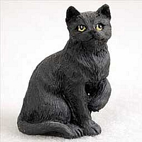 Black Shorthaired Tabby Tiny One Figurine