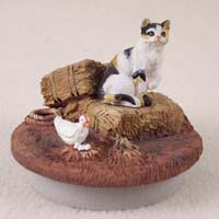Calico Shorthaired Cat Candle Topper Tiny One