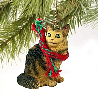 Brown Tabby Maine Coon Cat Original Ornament
