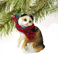 Tortoise & White Scottish Fold Original Ornament