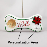Pomeranian Red Bone Ornament (Personalize-It-Yourself)