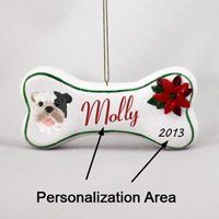 Bulldog Brindle Bone Ornament (Personalize-It-Yourself)