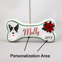 Bull Terrier Brindle Bone Ornament (Personalize-It-Yourself)