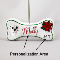 Great Dane Harlequin Uncropped Bone Ornament (Personalize-It-Yourself)