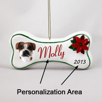 Boxer Uncropped Bone Ornament (Personalize-It-Yourself)