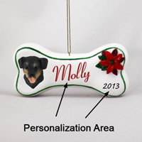 Rottweiler Bone Ornament (Personalize-It-Yourself)