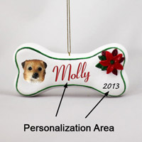Tibetan Spaniel Bone Ornament (Personalize-It-Yourself)